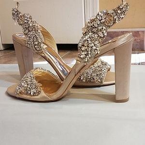 Badgley Mischka embellish evening shoes sz 10